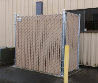 Commercial 6ft slatted privacy chain link enclosure