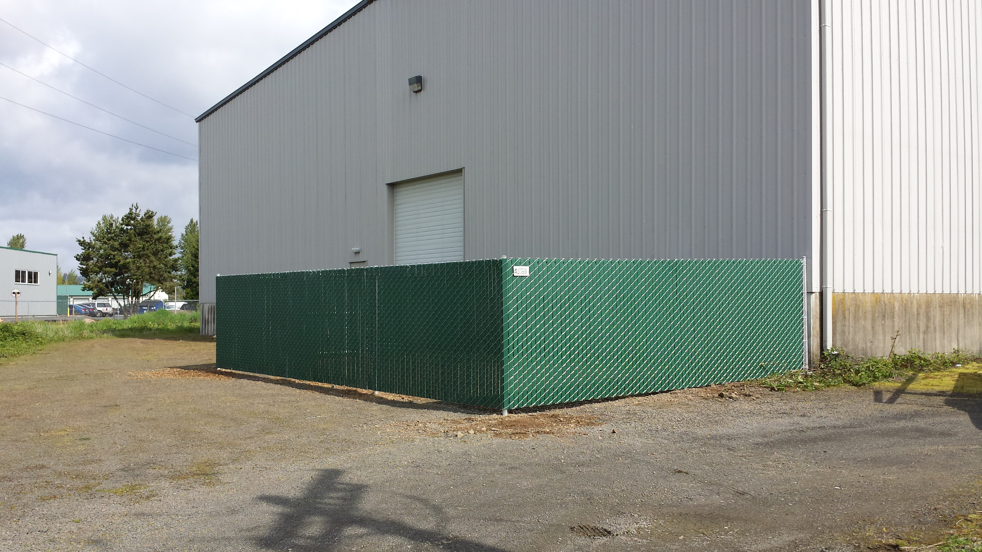 Commercial 6ft slatted privacy chain link