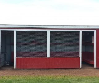 Commercial, baseball dugout