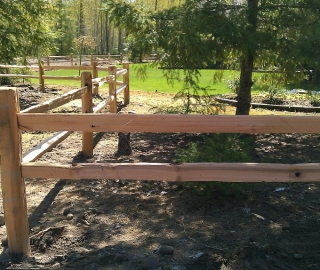 Residentail Split Rail Cedar