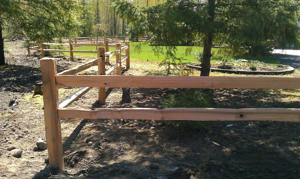 Residentail Split Rail Cedar