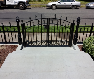 Residential 4ft iron double swing gate, custom