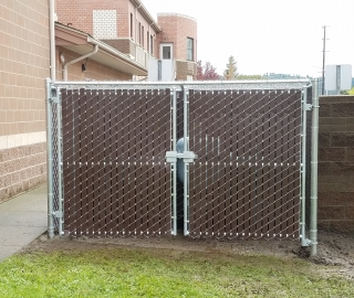 commercial 6ft slatted privacy chain link..