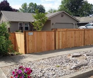 residential 4ft cedar picture frame