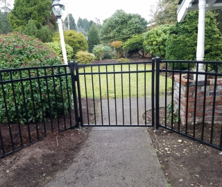 residential 4ft ornamental iron walk gate..