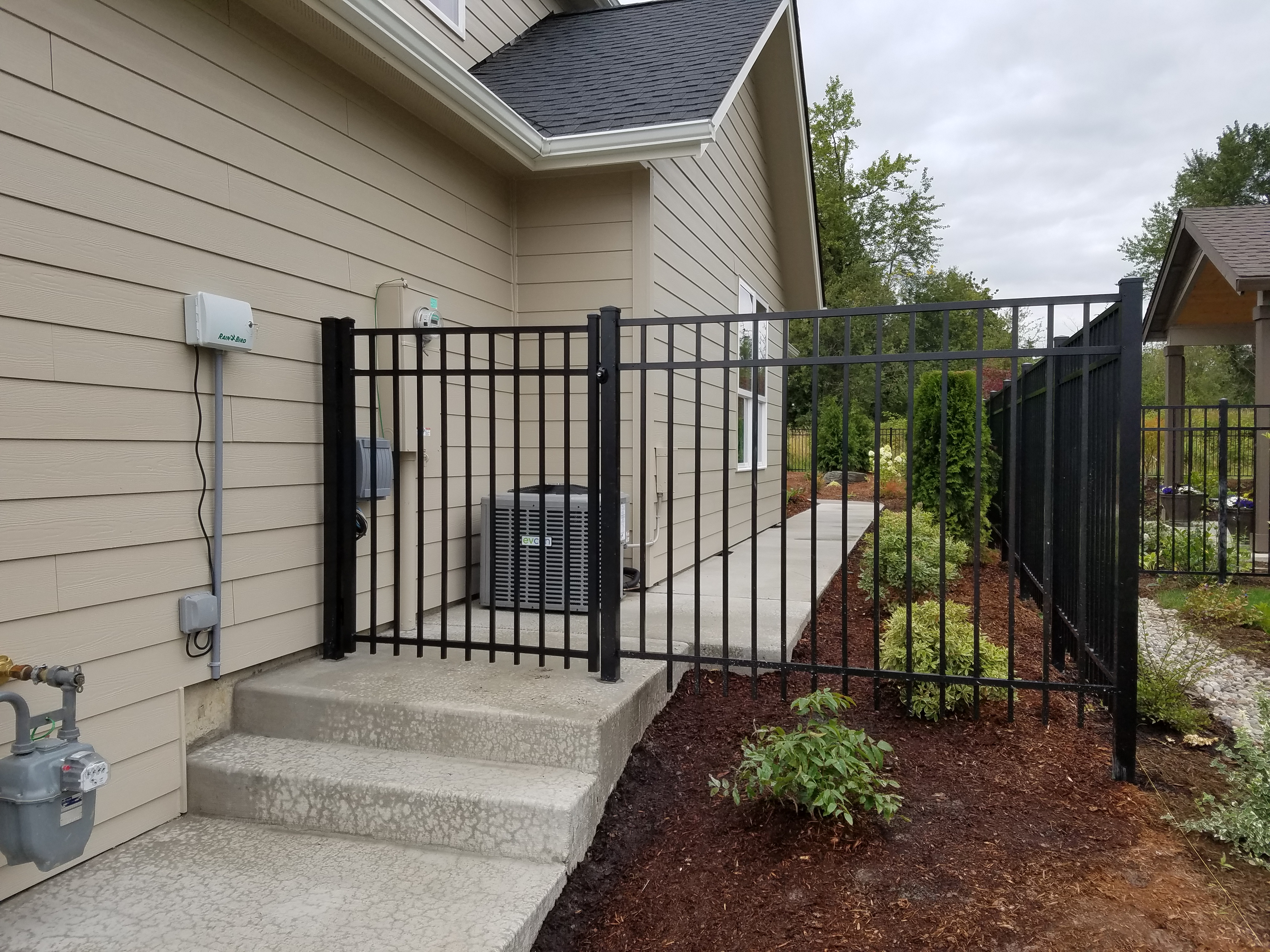 residential 6ft ornamental iron fence