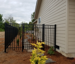 residential 6ft ornamental iron walk gate