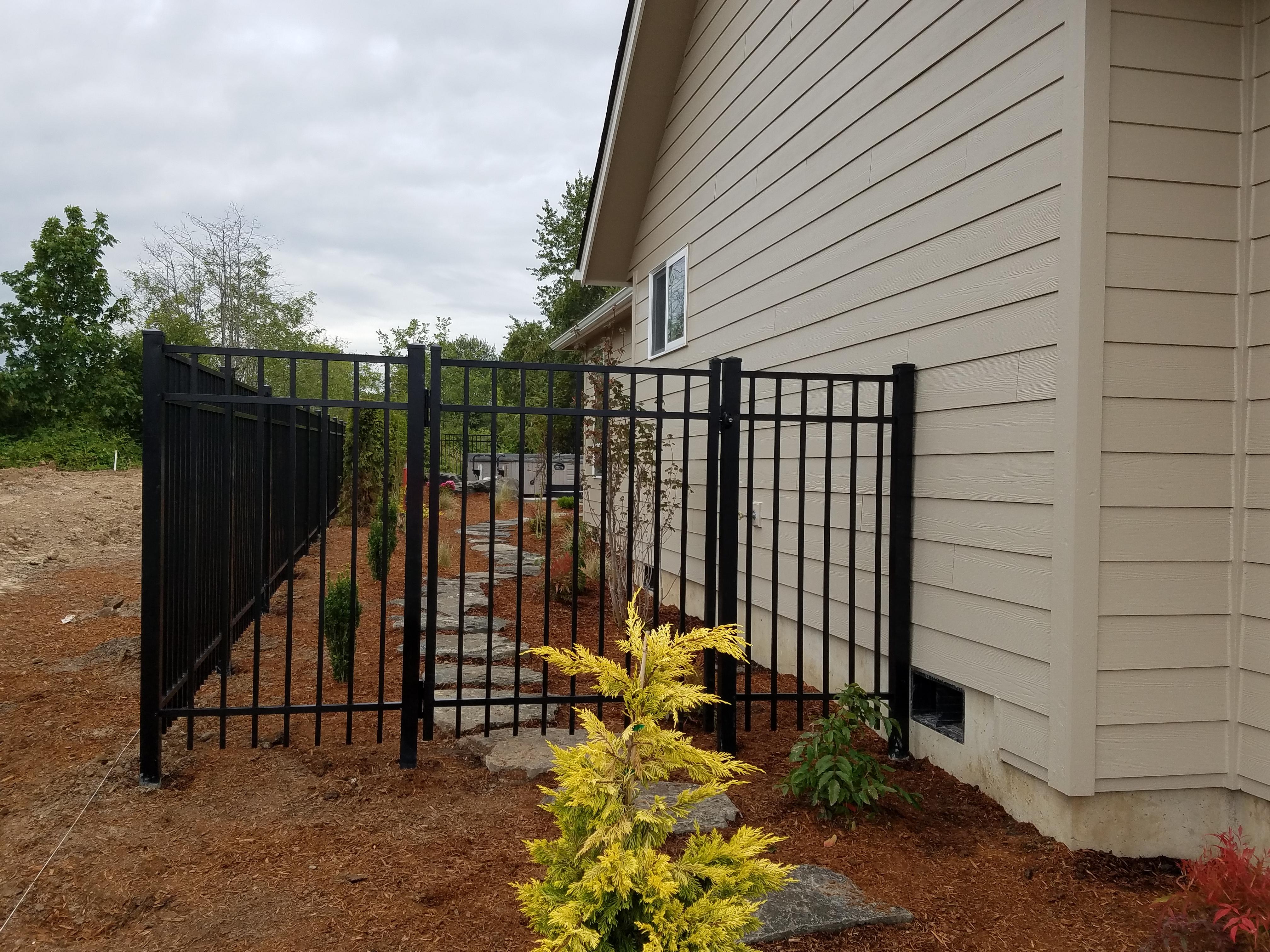 residential 6ft ornamental iron walk gate