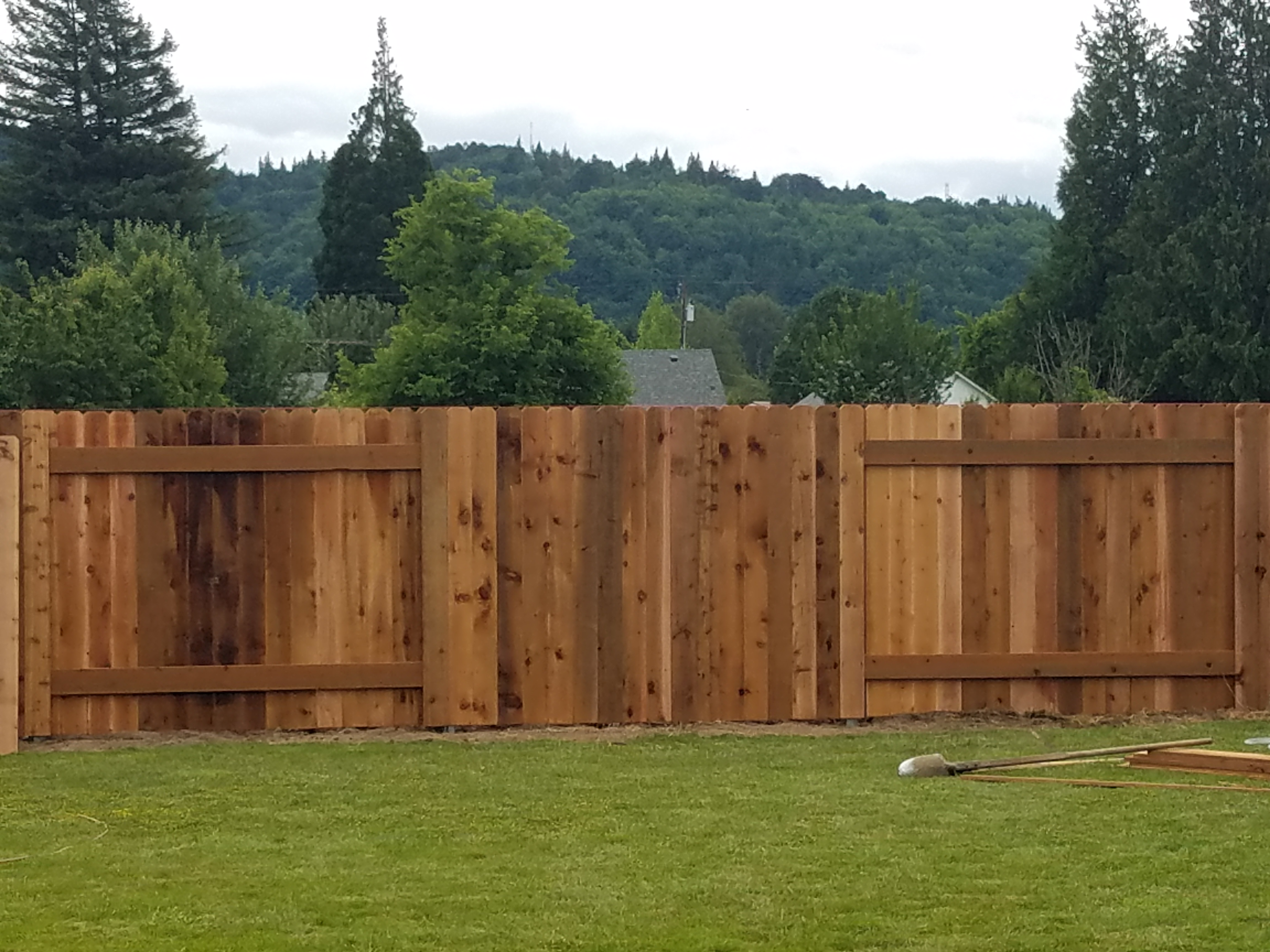 Residential fencing gate installations portland or seattle residential 6ft privacy cedar alternate panels baanklon Gallery