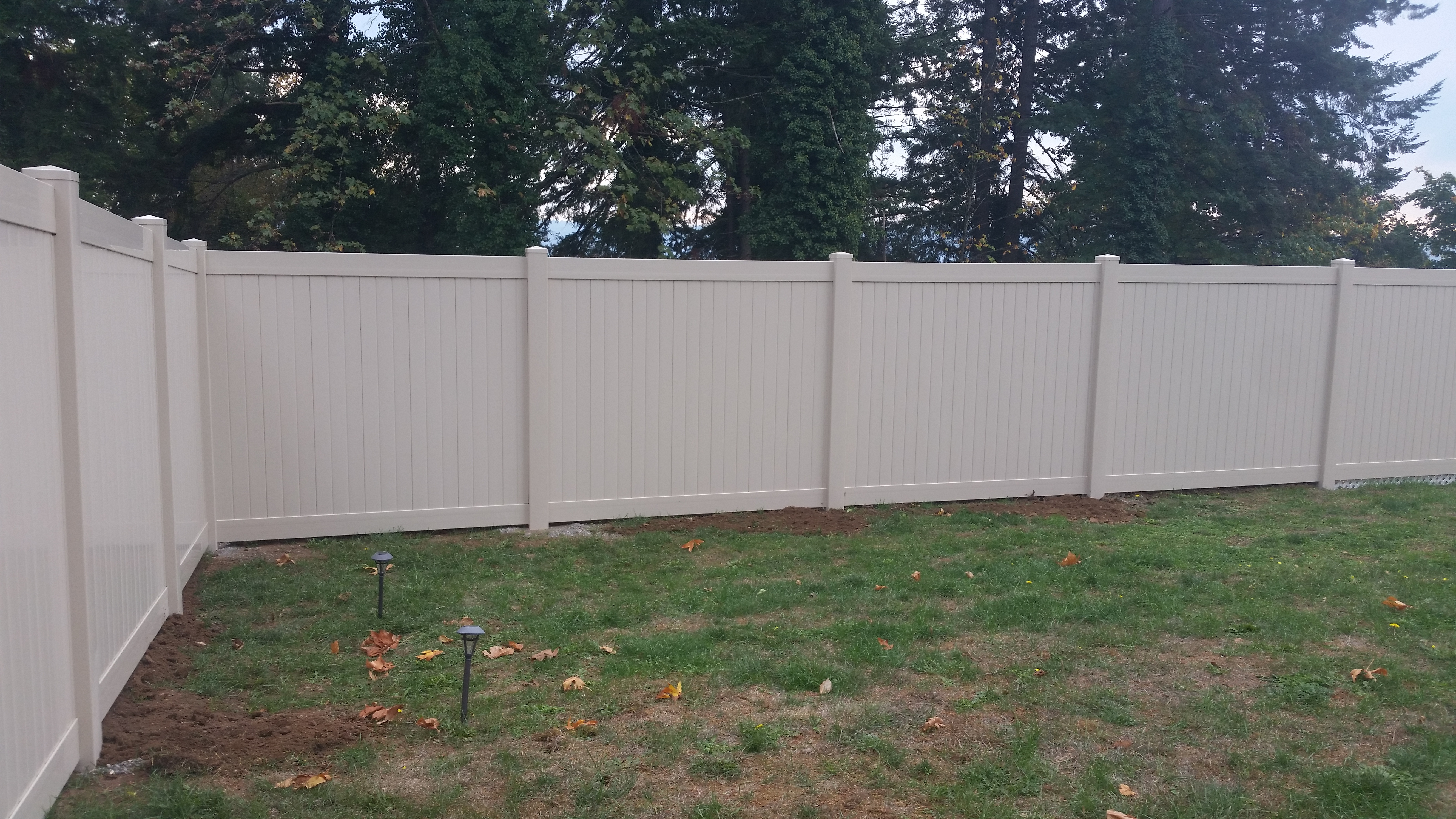 residential 6ft privacy vinyl almond color