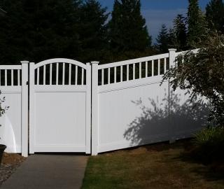 residential 6ft privacy vinyl walk gate