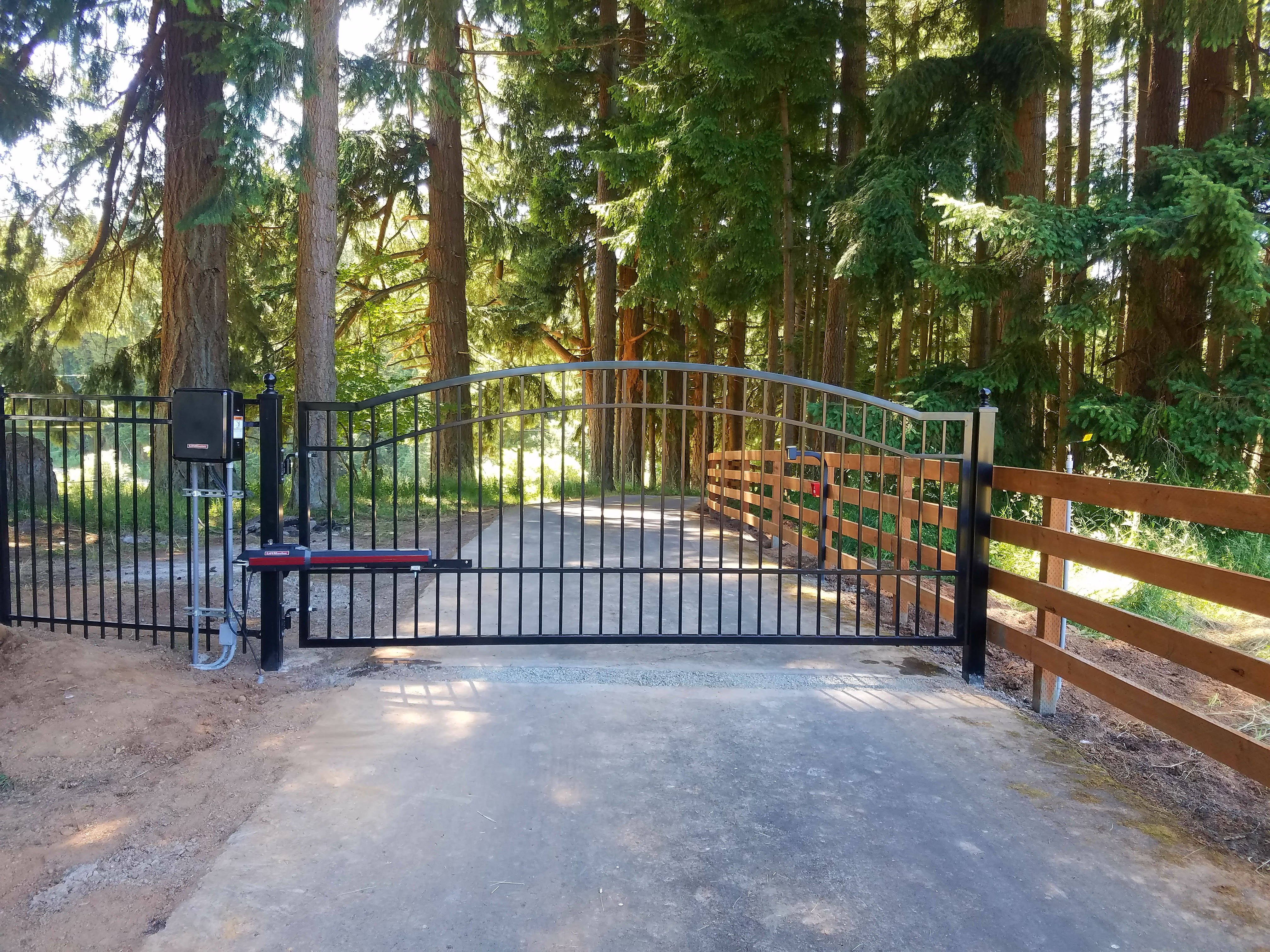 residential automated gate.