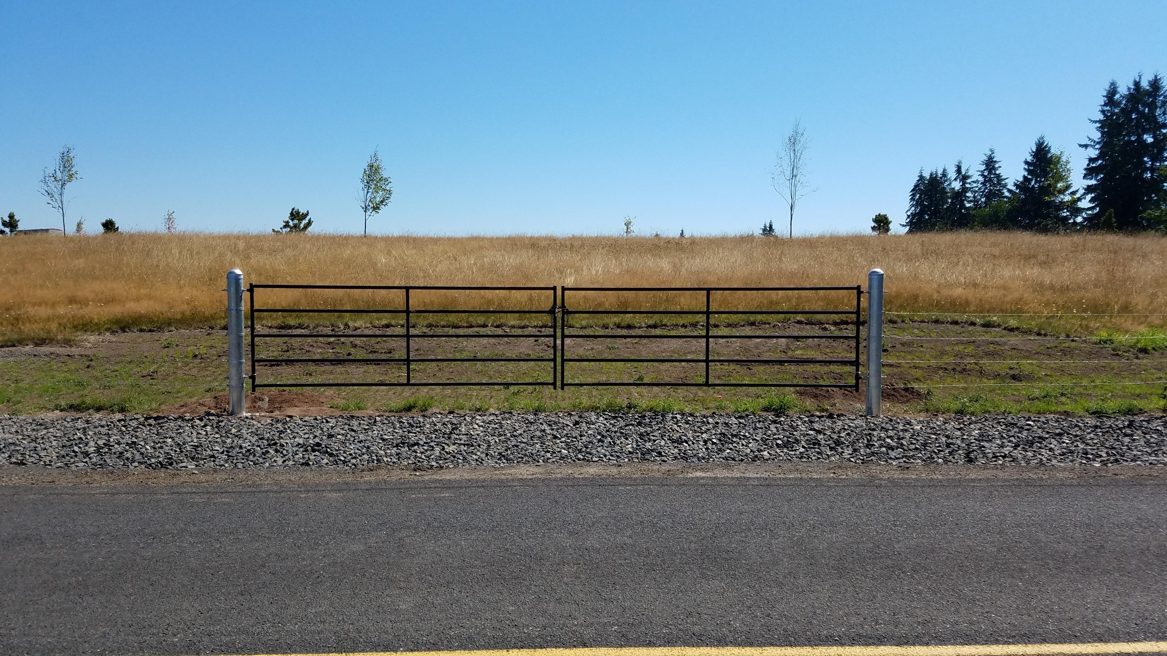 residential double swing farm gate