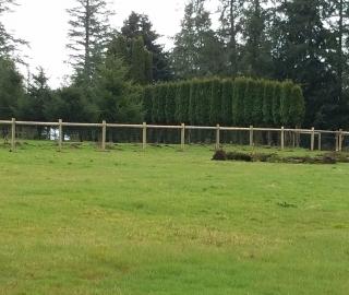 residential farm fence.