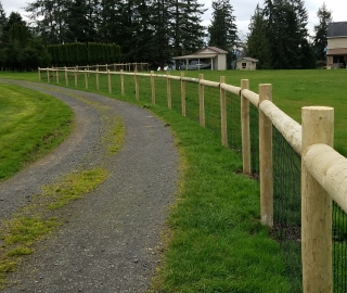 residential farm fence..