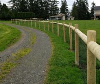 residential farm fence..